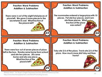 1000+ ideas about Fraction Word Problems on Pinterest   Dividing ...