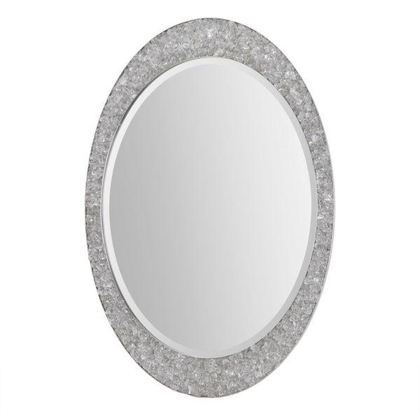 Renwil Sirens Brushed Nickel Mirror
