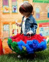 Chic Baby Rose Sesame Street Chic pettiskirt - great for a themed party! Handmade in the USA