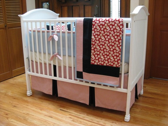 Items Similar To 3 Piece Baseball Crib Set On Etsy