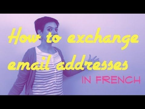 27 best french videos from comme une franaise images on exchange email addresses in french youtube ccuart Gallery
