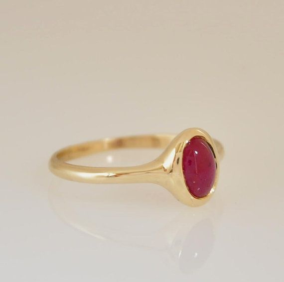 Ruby Ring  Ruby Ring Gold  14k Gold Ring  by malkaravinajewelry