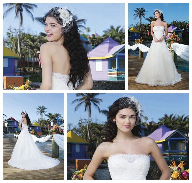 Tulle And Satin Ball Gown With Strapless Neckline And A Satin Belt