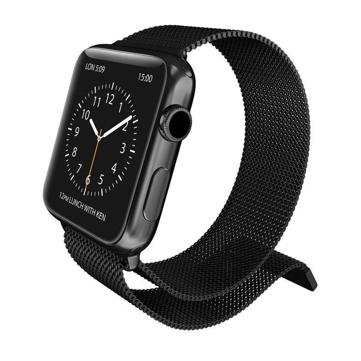 X-Doria Mesh Band for 42mm Apple Watch - Charcoal Heather