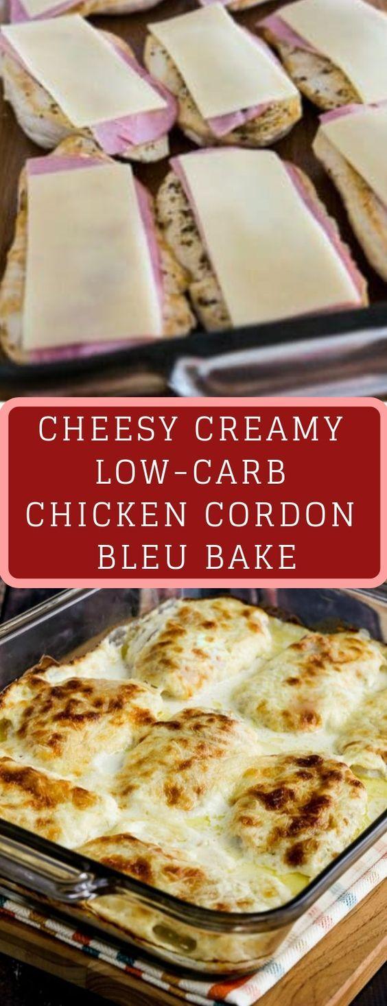 CHEESY CREAMY LOW-CARB CHICKEN CORDON BLEU BAKE