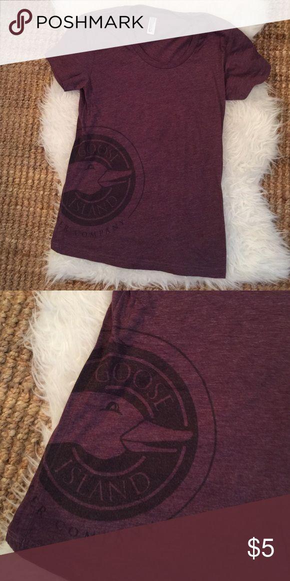 American Apparel tshirt Soft American Apparel tshirt. Goose Island logo. Worn once. Plum color. American Apparel Tops Tees - Short Sleeve