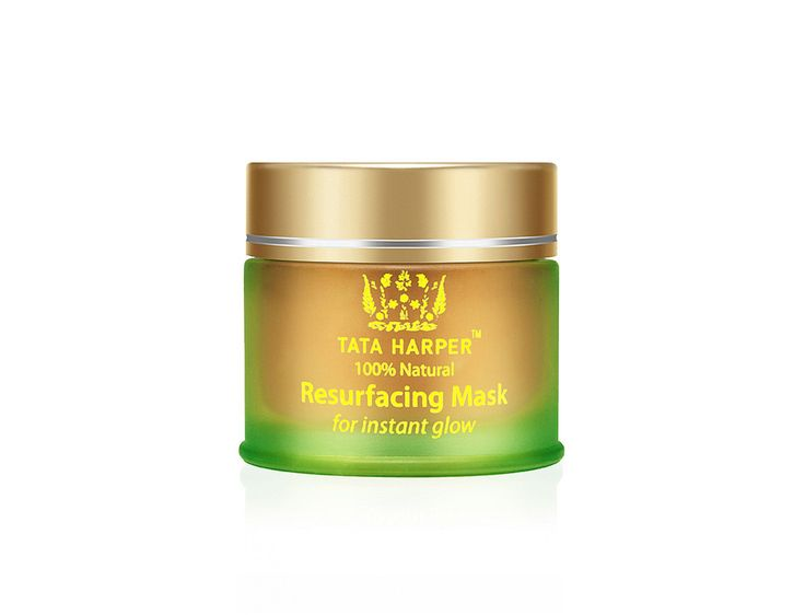 Tata Harper's exfoliating mask relies on Pomegranate Enzymes (cleansing), French Pink Clay (reduces the appearance of pores), and White Willow (renewal).