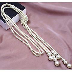 Γυναικεία+Σκέλη+Κολιέ+Coliere+cu+Perle+Μαργαριτάρι+Απομίμηση+Μαργαριταριού+Κράμα+Μοντέρνα+Πολυεπίπεδο+κοστούμι+κοστουμιών+Κοσμήματα+Για+–+EUR+€+10.70