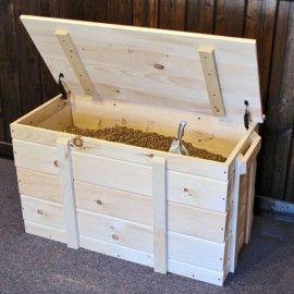 Pine wood pellet box
