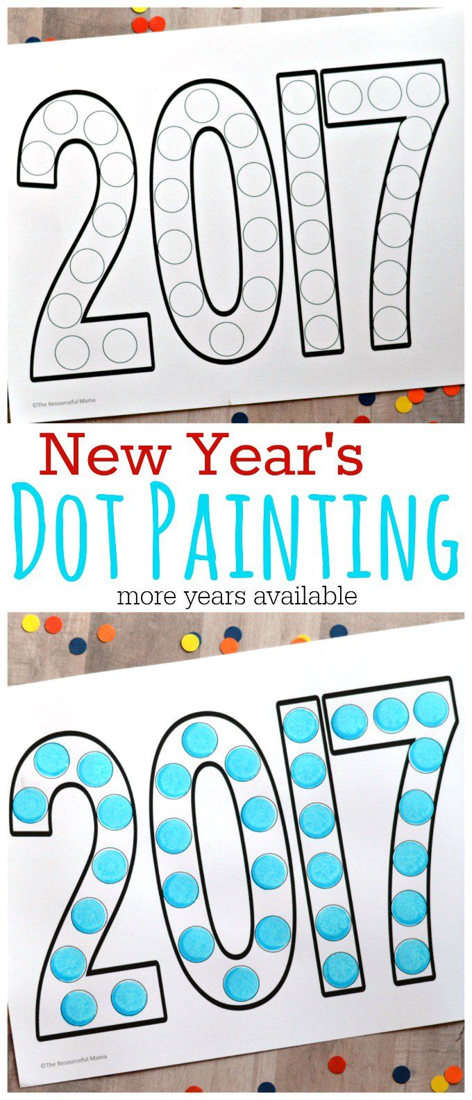 dot painting new years activity for kids preschool winterwinter activitieskid - Free Painting Games For Preschoolers