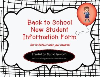 Get to know your new students with this informative and user-friendly student information sheet! The first page covers your basics such as phone numbers, addresses, etc. The second page digs a little deeper and asks questions regarding strengths, struggles, religious observances, and goals!