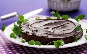 Kladdkaka med chokladkräm (med recept från Arla).