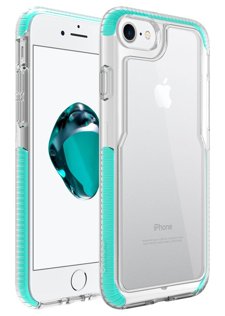 iPhone 8 / iPhone 7 Case, Zuslab Armor Pro Military Grade Shock Proof PolyOne Material with TPU Bumper Cover Drop Protection HD PC Back Cover For Apple iPhone 8 / iPhone 7 (Mint / Clear). 【Features】It meets or exceed U.S Military Standard Drop Testing requirements.(MIL-STD 810G). 【Impact Disperse Design】Inside is a layer of Special PolyOne Material Shock Absorbing polymer, which actively deflects the force of impacts away from your phone. 【Premium Quality】Preferable material, no Air…