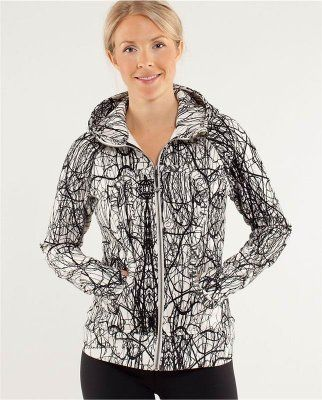 Lululemon Black Friday & Cyber Monday Sale 2013 - Lululemon Women Hoodie Black White