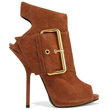 On SALE at 60% OFF! buckled nubuck ankle boots by Giuseppe Zanotti. Italian sizing Giuseppe Zanotti light -brown boots . Heel measures approximately 125mm/ 5 inches . Nubuck . Buckled s...