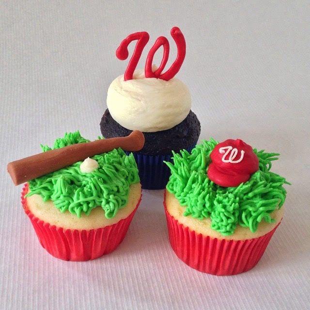Washington Nationals Nats Baseball Cupcakes