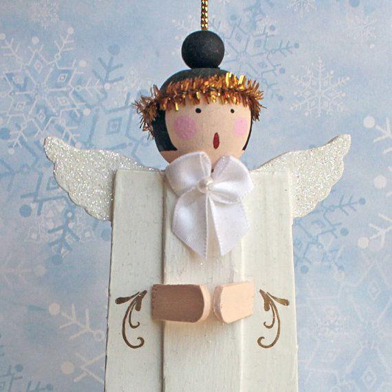 Angel Choir Christmas Ornaments . OOAK Tree by BarkingDogDesigns