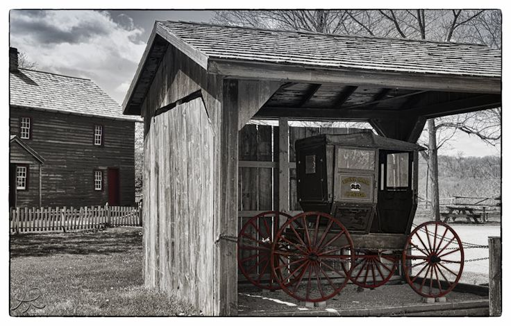 Mail Wagon with Fry House in the background