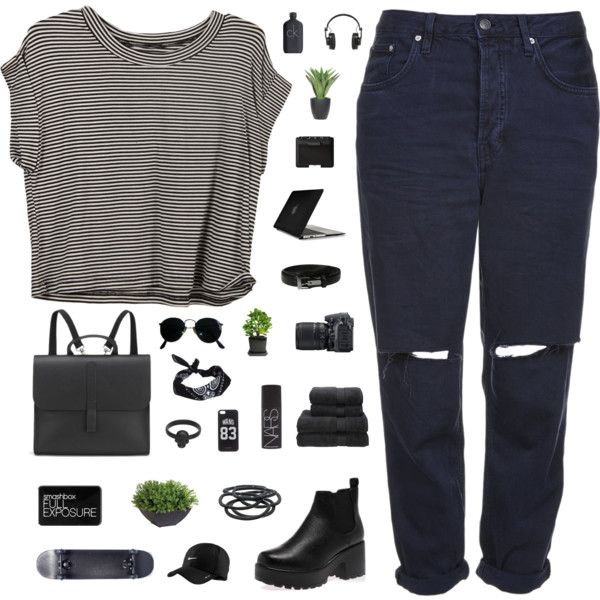 A fashion look from September 2015 featuring Topshop jeans, Danielle Foster backpacks and Gathering Eye rings. Browse and shop related looks.