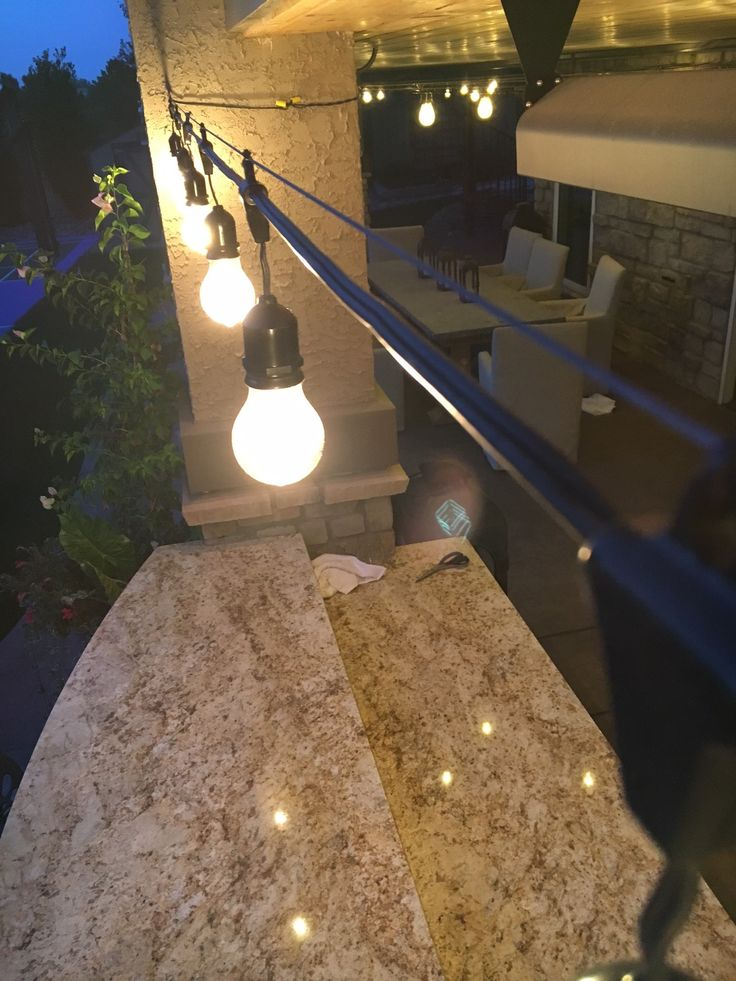 How to Hang Outdoor String Lights using a Guide Wire
