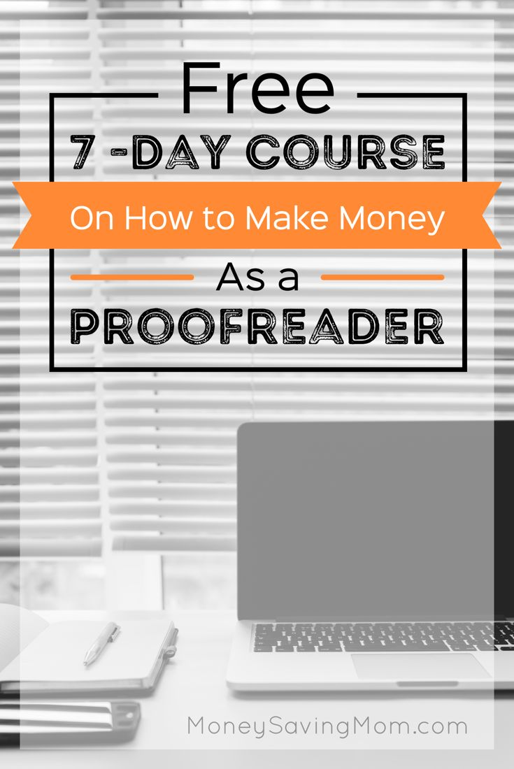 Online proofreading course requirements