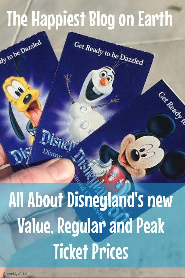 Disneyland ticket details with new demand based pricing.