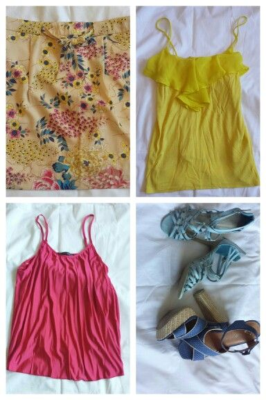 Forever 21 floral skirt and endless options