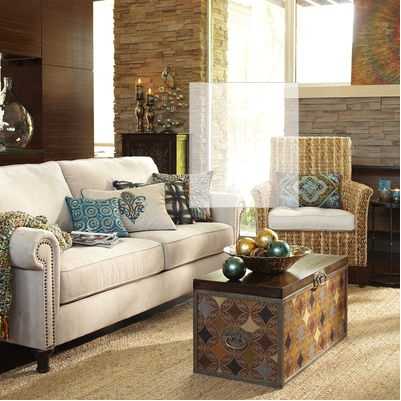 Alton sofa ecru from pier 1 shopping pinterest for Pier 1 living room chairs