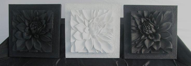 trio of lotus flowers