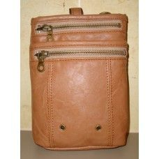 Hanpu Koubou Tan Cross Body Bag $24.95 - Keep your passport, wallet and travel docs safely together in this handy cross-body bag. #hanpukoubou #mensbags #crossbodybag