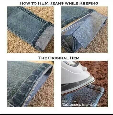 nice way to hem pants
