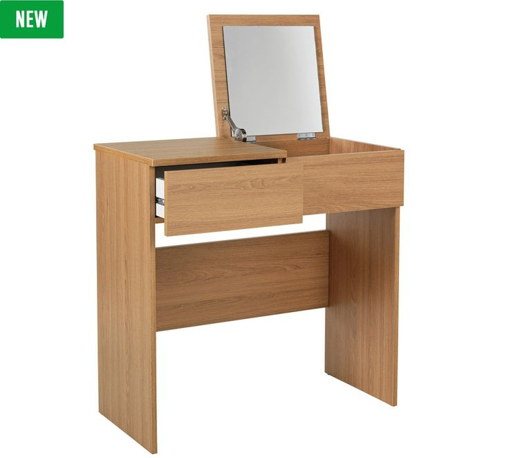 Buy HOME Malibu 1 Drawer Dressing Table With Mirror   Oak Effect At Argos.co