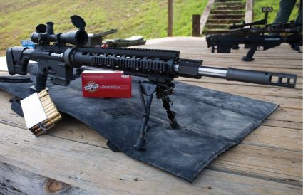 The XMCR 400 in .338 Lapua Magnum: Taking out targets at a mile plus!