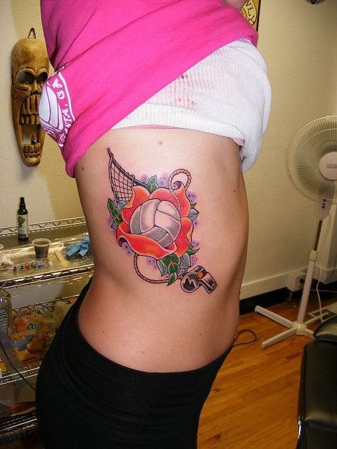 Cute! I want a volleyball tattoo so badly!