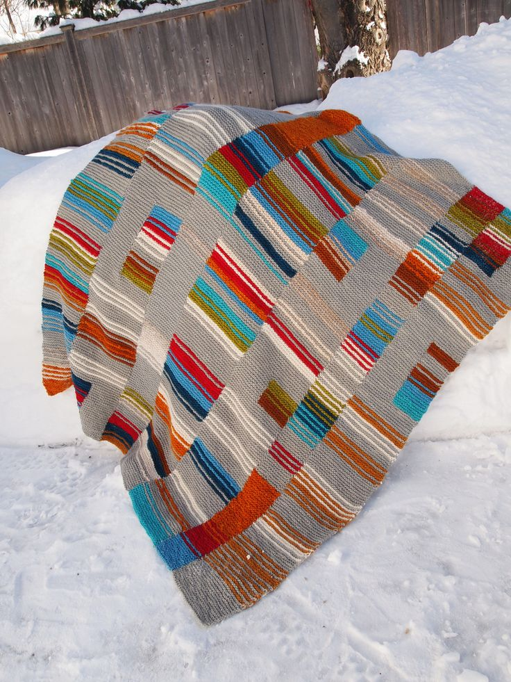 Knit Afghan Patterns In Strips : 177 best images about Knitting - Blankets, Dishcloths ...