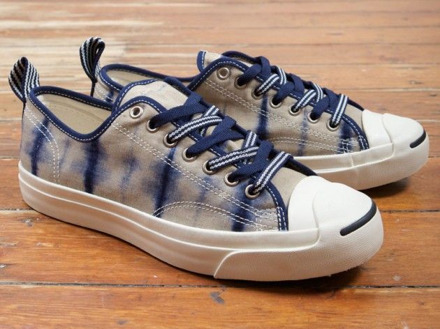 CONVERSE FIRST STRING DIP-DYED SHIBORI JACK PURCELL. http://www.selectism.com/2014/04/24/converse-jack-purcell-shibori/