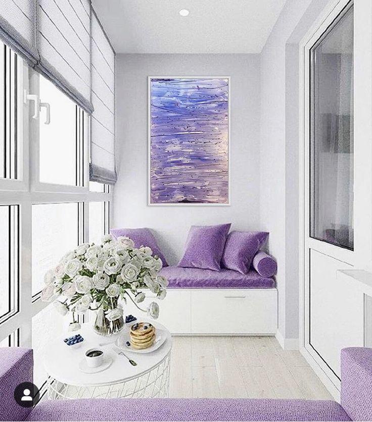 Розовый балкон фото