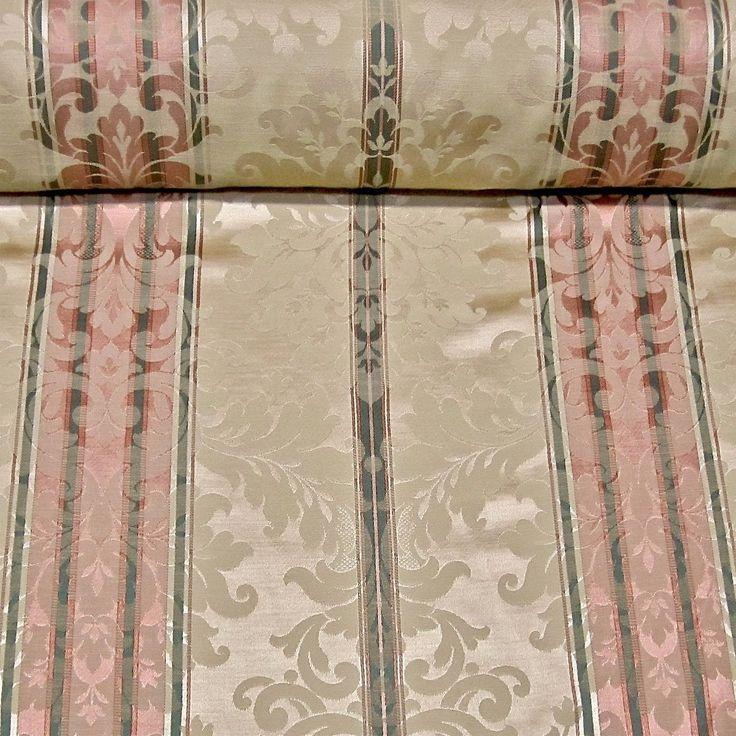 Schumacher Candlelight Damask Stripe Drapery Bedding Upholstery Fabric By the Yard