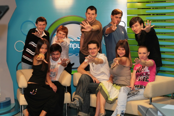 Youth journalists and producers from the M@trix, a show on technology created by and for youth in Central Asia.