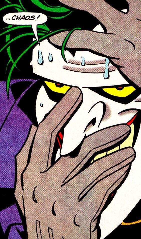 """...Chaos!"" The Joker in Adventures #3 (Dec. 1992) - Ty Templeton (pencils), Rick Burchett (inks) & Rick Taylor (colors)"