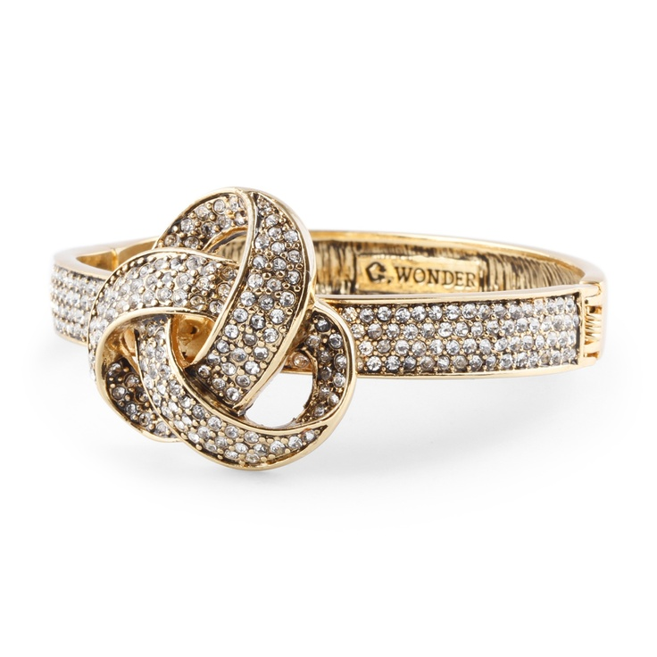 C.Wonder Pave Forget Me Knot Ring