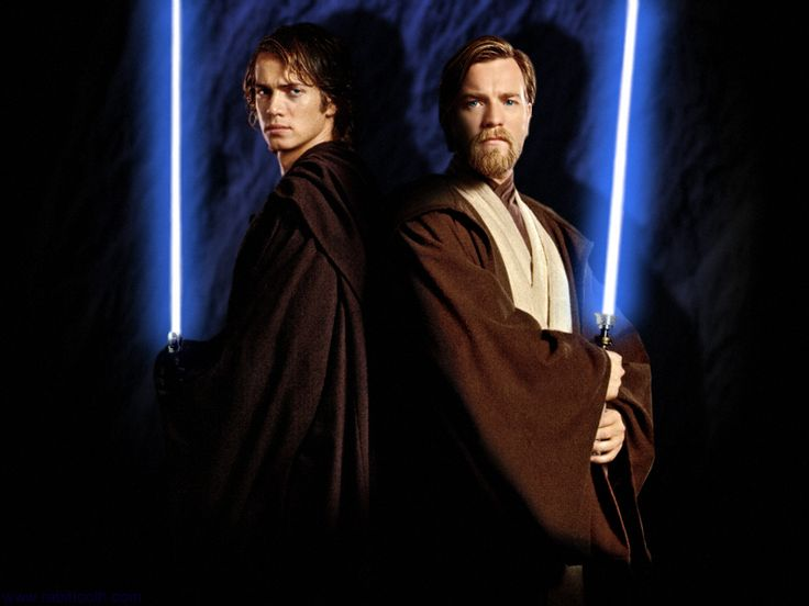 Watch out Obiwan, Anakin's lightsaber won't stay blue forever...