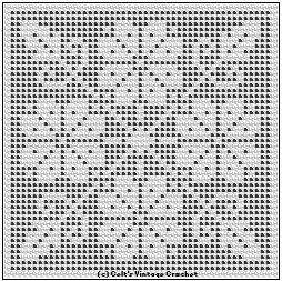 Free Pattern Flower Square in Filet Designs for Crochet Royal Society Book 36 1934 web.archive.org/...