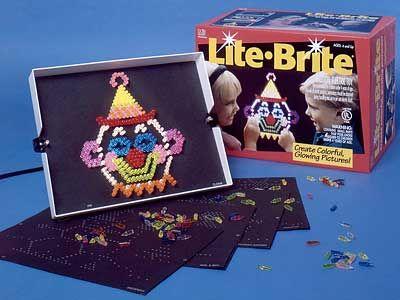 Le Lite Brite, pour les artiste en herbe. #litebrite #jouet