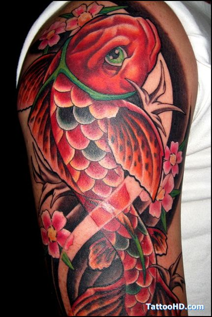 japanese fish tattoo - Google Search