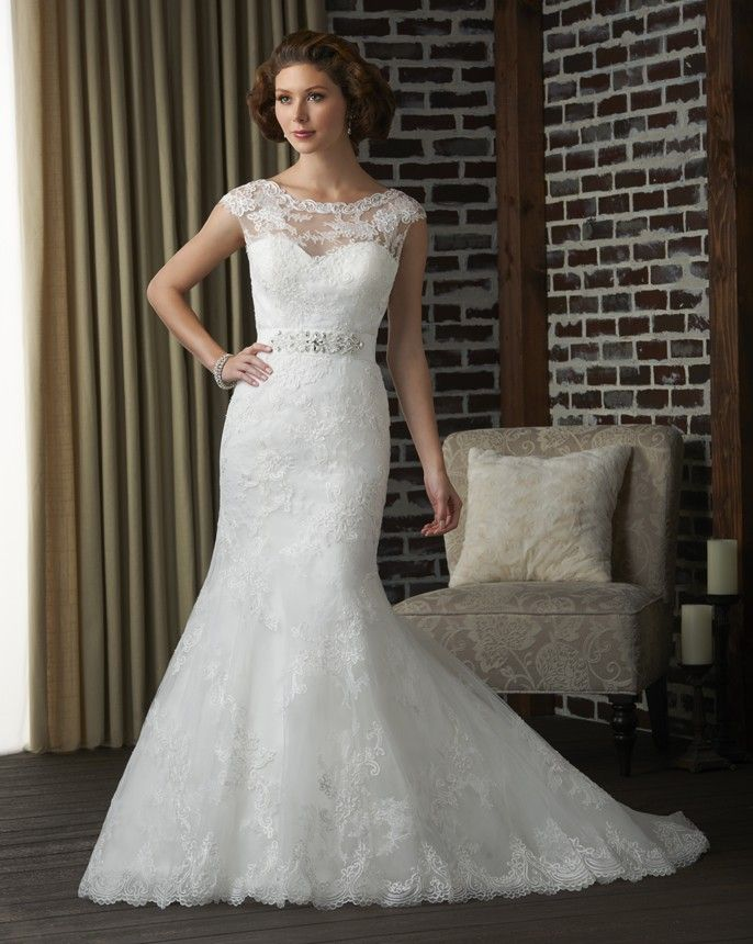 Bonny Classic 305 Lace Mermaid Wedding Dress