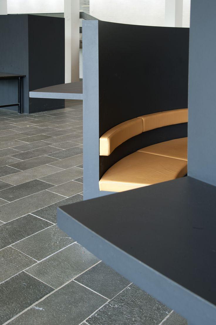 Learning area: DTU – Danmarks Tekniske Universitet – seating area – PO Inventar ¬– Arkitema - surface- Desktop - Furniture Linoleum - Forbo