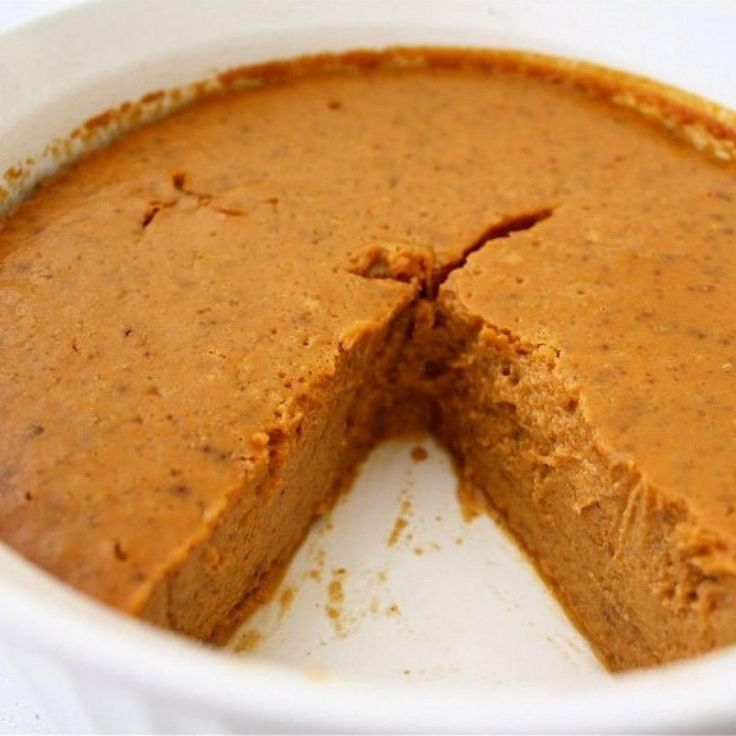 Gluten-free, sugar-free, low-carb, and the best pumpkin pie you'll ever eat! You won't even miss the crust.