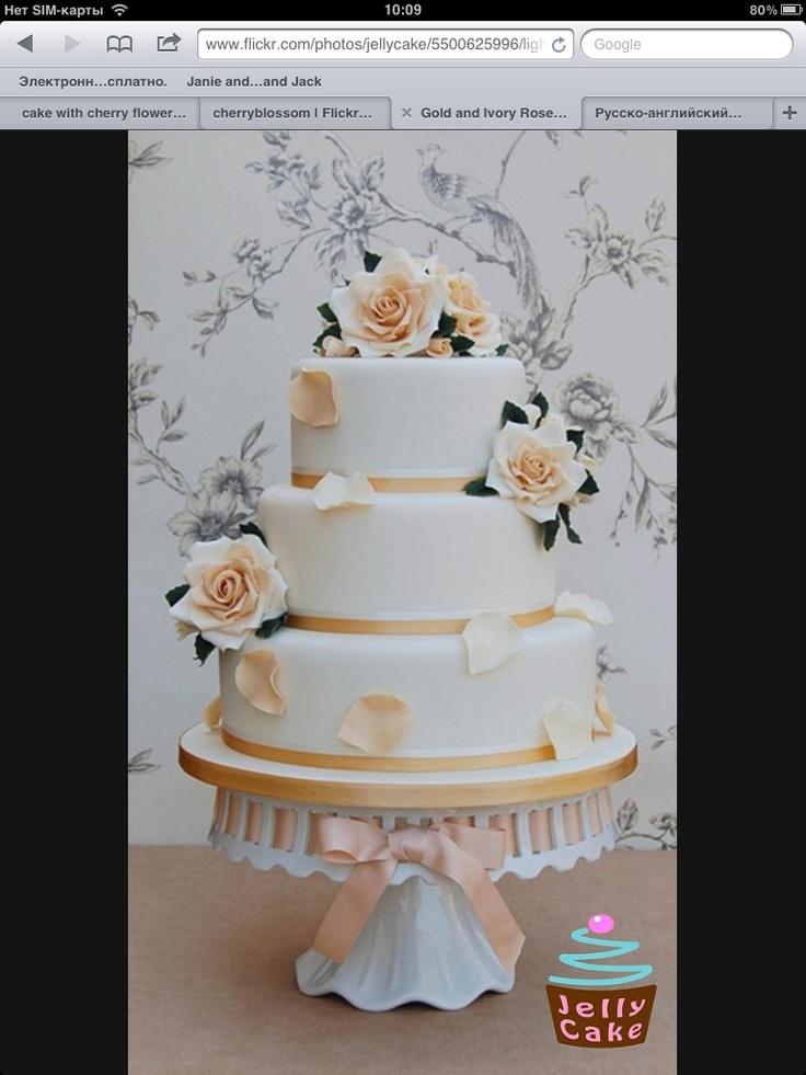 Цветовую тематику прекрасно поддержит декор! А розы всегда актуальны :)
