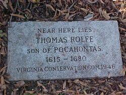 James City County Va     grave of Thomas Rolfe  son of Pocahontas 1615-1680